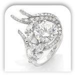 Unique Human Heart Diamond Engagement Ring