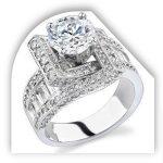 Unique Round Diamond Engagement Ring