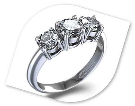 engagement three stone oval rings wedding ring cut diamond karisa