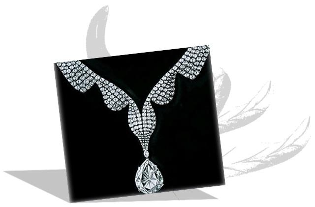 Taylor Burton diamond in Necklace