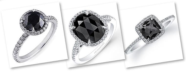 Oval Black Diamond Engagement Rings Black Diamond Engagement Rings