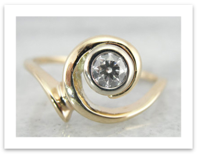 Abstract Design Diamond Ring
