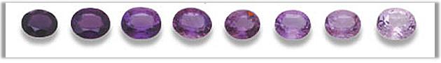 Amethyst color shades