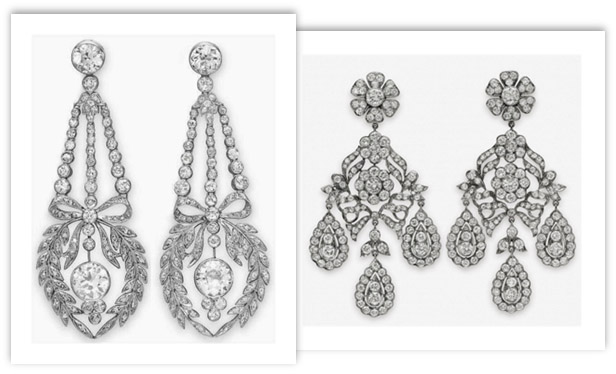 Antique Diamond Chandelier Earrings - Antique Diamond Earrings - Spruce Up Your Style Quotient!