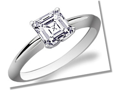Asscher Diamond Solitaire setting