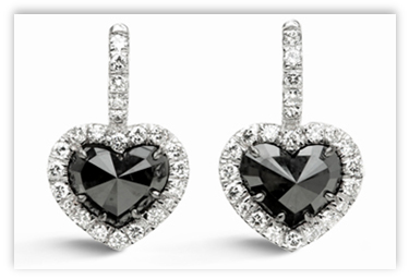 briolette diamond products earrings black bead