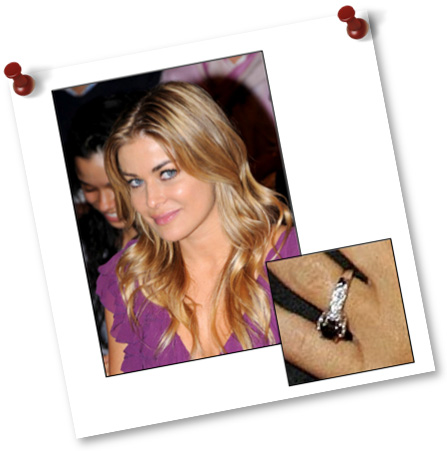 Black Diamond Engagement Ring of Carmen Electra