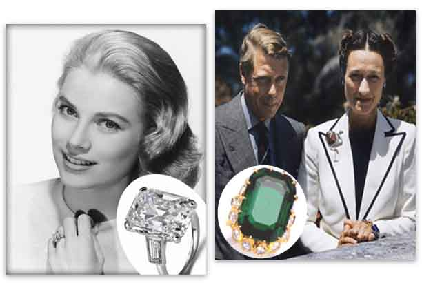 Cartier Engagement Rings - Grace Kelly and Duchess of Windsor