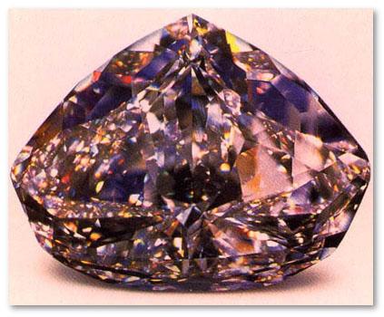 Centenary diamond lit under multicolored light