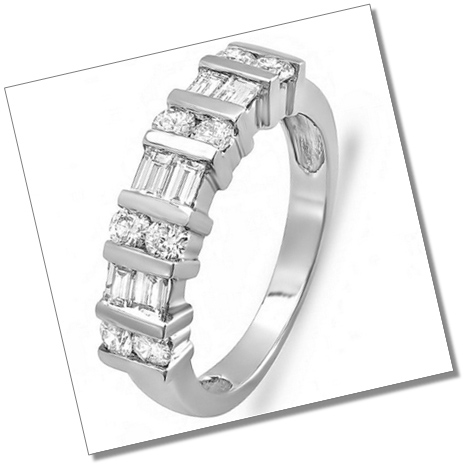 Channel Setting Anniversary Wedding Ring Band
