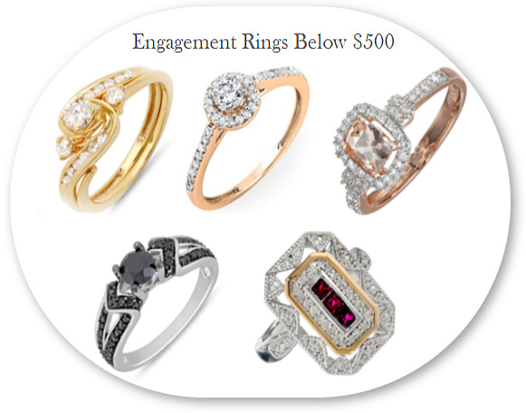 Cheap Diamond Engagement Rings Below $500 from Amazon