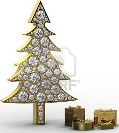 Christmas Tree With Diamonds