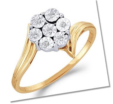 Basic cluster setting engagement ring