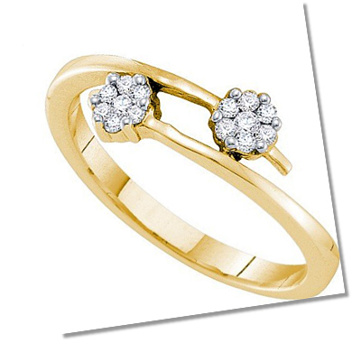 Contemporary Cluster setting engagement ring