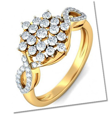Designer Cluster setting engagement ring