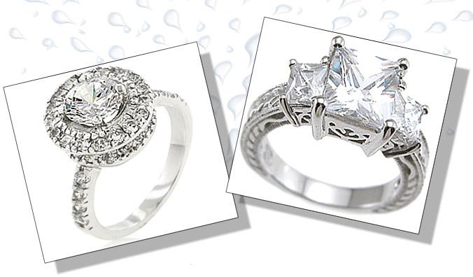 Cubic Zirconia Engagement Rings