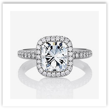 Cushion Cut Engagement Ring from De Beers' Aura Collection