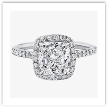 Cushion Cut Engagement Ring from Harry Winston