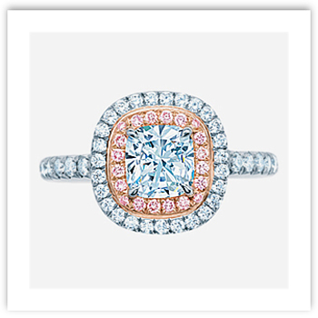 Cushion Cut Engagement Ring from Tiffany's Soleste collection