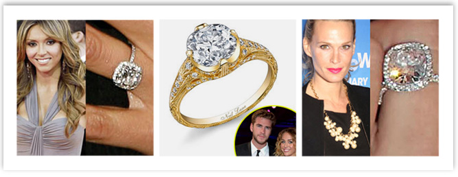 Celebrities sporting Cushion Cut Engagement Ring
