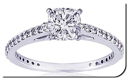 Cushion Diamond 4 Prong Setting
