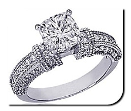 Cushion Diamond Vintage Setting