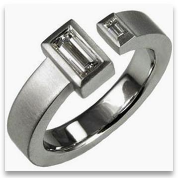 Open Style Designer Platinum Engagement Ring