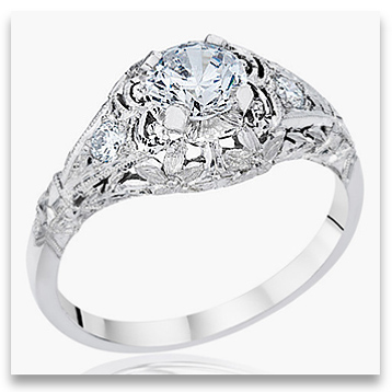 gallery of fashioned engagement rings