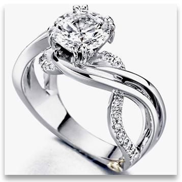 Designer Platinum Engagement Ring from Mark Schneider