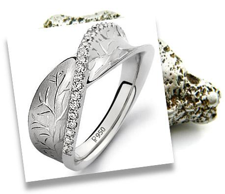 Designer Platinum Engagement Ring