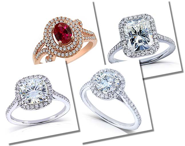 Amazon diamond alternative engagement rings collection