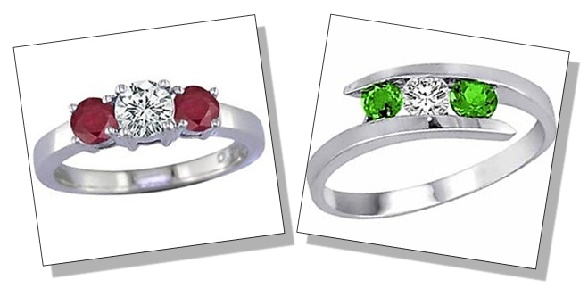 Round Shaped Diamond Gemstone Rings