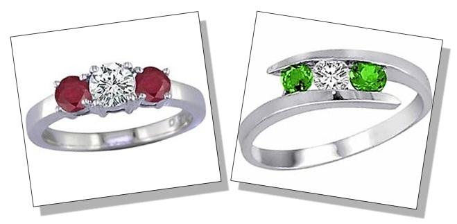 Round Shaped Diamond Gemstone Rings