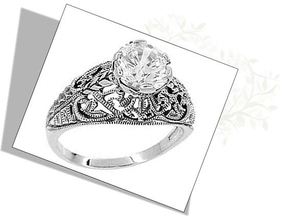 Edwardian Antique Engagement Ring with filigree work