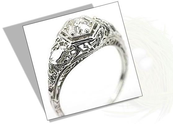 Edwardian Engagement Ring with Bird Motif