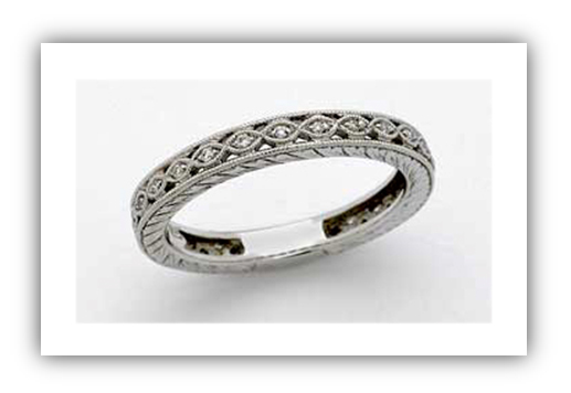 Edwardian Platinum Wedding Band