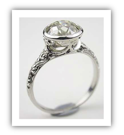 Edwardian Platinum Wedding Ring