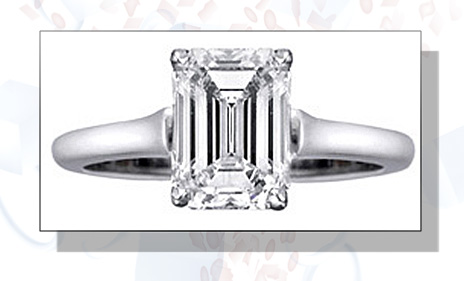 ... emerald cut diamond engagement rings are worn by both men and women.  For men, ring will have masculine and simple band, while ladies\' version  will be ...