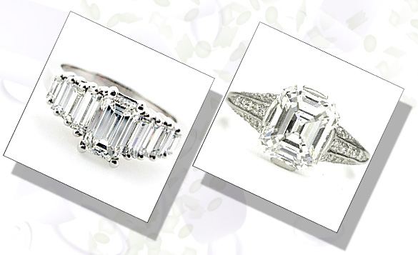 Emerald Cut Diamond Engagement Rings For Confident And