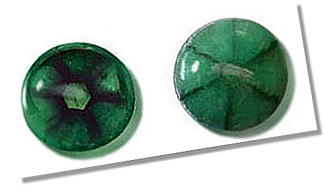Trapiche Emerald with Cabochon Cut