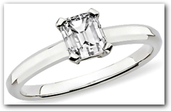 Emerald Diamond 4 Prong Setting