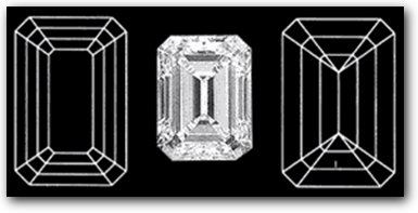 Emerald Diamond Facets Pattern