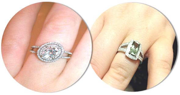 Engagement Ring Styles for fuller fingers