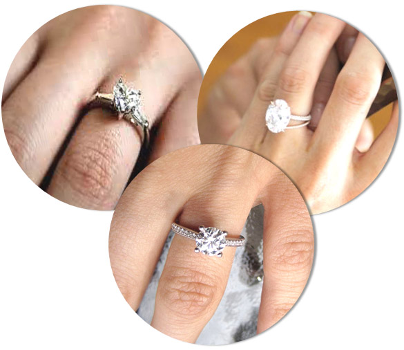 Engagement Ring Styles for skinny fingers