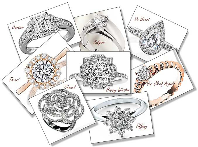 luxurious engagement ring brands collections - Wedding Ring Brands