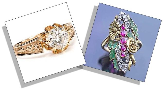 Estate Engagement Ring Edwardian and Art Nouveau