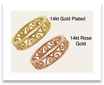 Gold Filigree Engagement Rings
