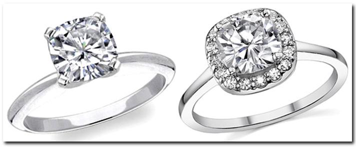 Halo Setting Engagement Ring