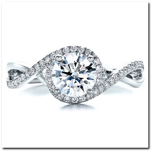 Halo Setting Engagement Ring