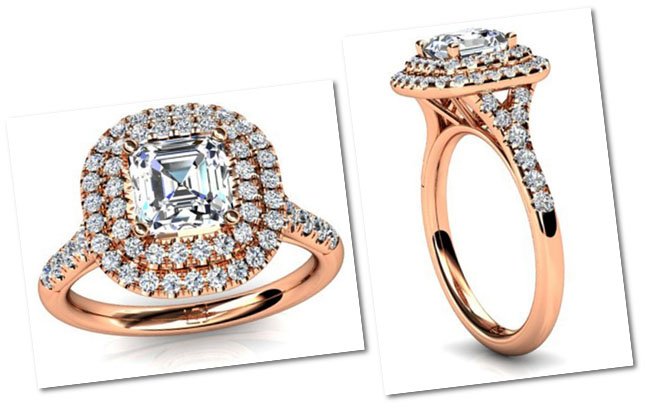Double Halo Style Engagement Ring